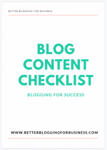 Blog Content Checklist
